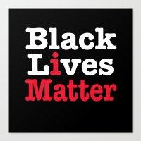 BLACK LIVES MATTER (inverse version) Canvas Print