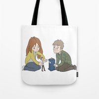 The Girl Who Waited, The Boy Who Waited, and Their Raggedy Doctor Tote Bag