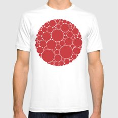 The Red Dot SMALL Mens Fitted Tee White