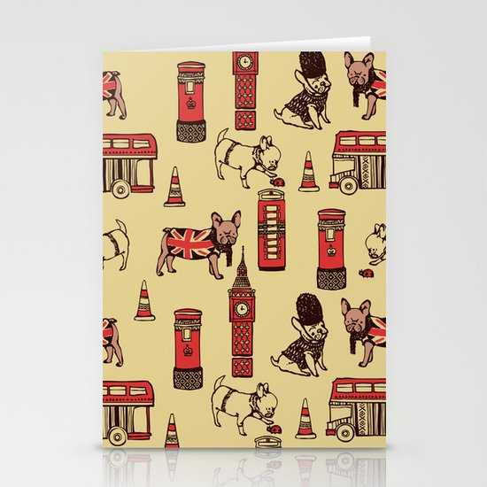 London Frenchies Stationery Card