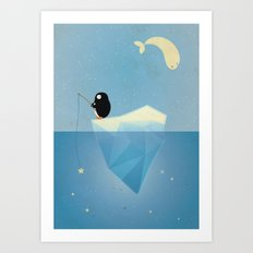 FISHER OF STARS Art Print