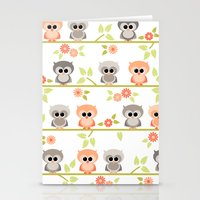 Baby Owls Stationery Cards