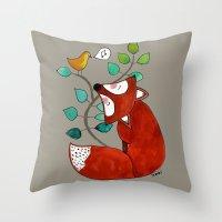 Ernst The Fox Throw Pillow