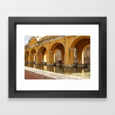 Antigua, Guatemala. Laundry. Framed Art Print