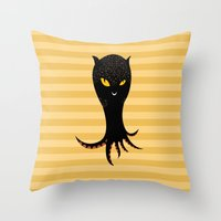 Jaguar Squid Throw Pillow