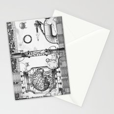 Mother Brain Super Metroid Engraving Scene Stationery Cards