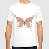 Butterflies Are Free To … Mens Fitted Tee White SMALL