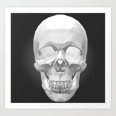 Skull in Low Poly Style Art Print