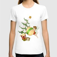 Fairy Merry Christmas Womens Fitted Tee White SMALL
