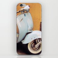 Vespa Blu iPhone & iPod Skin