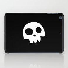 Skull Head logo with Three Teeth | Bones, white, pirates, symbolism, mortality, death, Halloween iPad Case