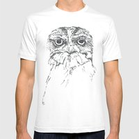 Grumpy Feathers Mens Fitted Tee White SMALL