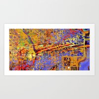 chicago Art Prints featuring chicago by donphil