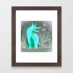 Woman Wolf 2 Framed Art Print