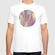 Nature White Mens Fitted Tee SMALL