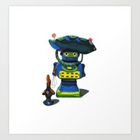 Robot-Bob Art Print