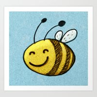 bee Art Prints featuring Bee by MaComiX