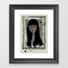 Never met a Hipster that really needs glasses Framed Art Print