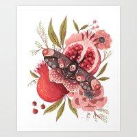 Moth Wings II Art Print