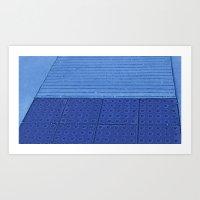 Blue Ramp Art Print