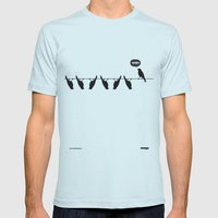 WTF? Bird Mens Fitted Tee Light Blue SMALL