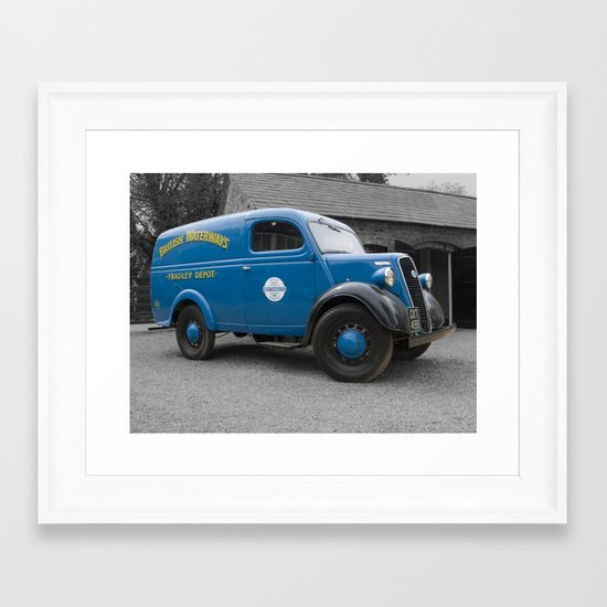 British Waterways van Framed Art Print