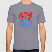 future failure hand lettering Mens Fitted Tee Slate SMALL