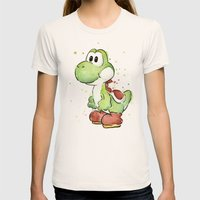 Yoshi Womens Fitted Tee Natural SMALL