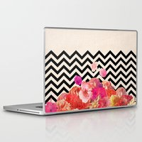 chevron Laptop & iPad Skins featuring Chevron Flora II by Bianca Green