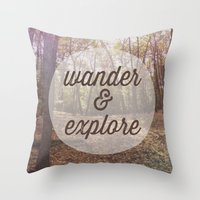 Wander and Explore Throw Pillow