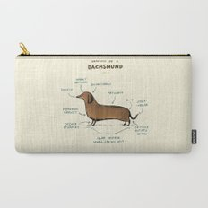 Anatomy of a Dachshund Carry-All Pouch