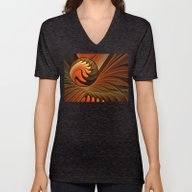 Never Give Up - Abstract… Unisex V-Neck