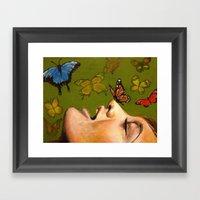 Butterfly Garden Framed Art Print