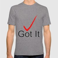 Got It Mens Fitted Tee Tri-Grey SMALL