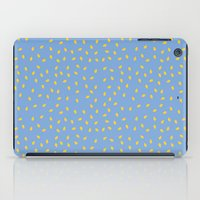 Yellow Pit on Blue /// www.pencilmeinstationery.com iPad Case