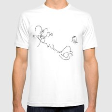 Exploding Soda Can X SMALL Mens Fitted Tee White