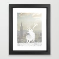 NYC Stag Framed Art Print
