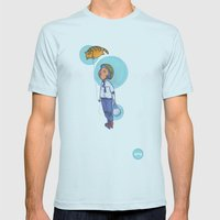 Topaz Dreaming. Mens Fitted Tee Light Blue SMALL