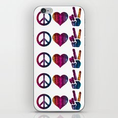 Peace Love and more Peace iPhone & iPod Skin