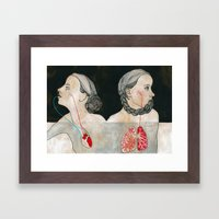 ikizler (twins) Framed Art Print