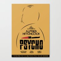 Psycho - Alfred Hitchcock Movie Poster Canvas Print