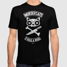 Murdercats Mens Fitted Tee SMALL Black