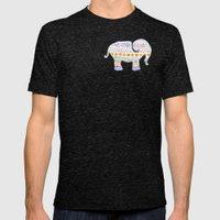 boho elephant Mens Fitted Tee Tri-Black SMALL