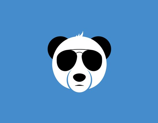 Panda Eyes Art Print