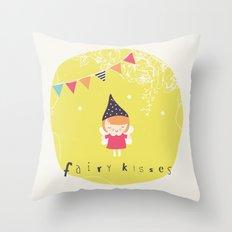 Fairy Kisses Throw Pillow