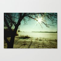 Snow covered Lake 2 Canvas Print