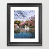Sakura @ Kichijoji Framed Art Print