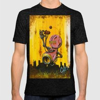 A pink robot for Akira Mens Fitted Tee Tri-Black SMALL
