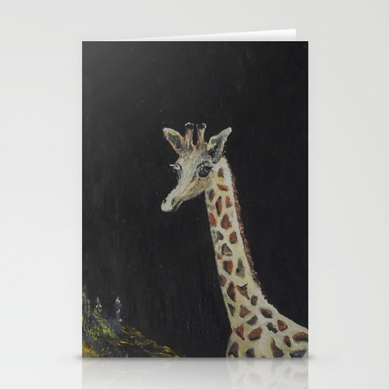 "Baby Giraffe gets Love ""Mommy and Me"" Stationery Card"