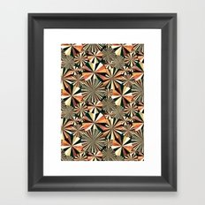 fun geometry Framed Art Print
